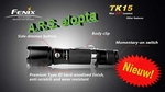 Fenix TK15 Tactical 337 Lumen!  High Power LED *Nieuw*